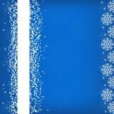 Winterhintergrund mit Schneeflocken, Illustration Stockfotografie