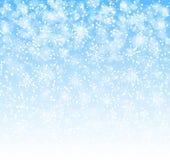 Winterhintergrund mit Schneeflockenvektor Lizenzfreie Stockfotografie