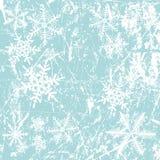 Winterhintergrund, Schneeflocken lizenzfreie abbildung