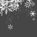 Winterhintergrund, Schneeflocken Stockfoto