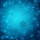 Winterhintergrund von den Schneeflocken Stockfoto
