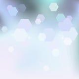 Winterhintergrund in weißem und in Blauem Lizenzfreie Stockfotografie