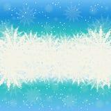 Winterhintergrundschnee und -schneeflocken Lizenzfreie Stockbilder