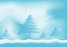 Winterhintergrundvektor Lizenzfreie Stockfotografie