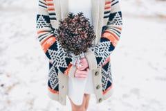Winterhochzeitsblumenstrauß Lizenzfreie Stockfotografie
