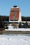 Winterhotel Lizenzfreie Stockfotos