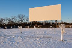 Winterized Drive-In Royalty Free Stock Photography