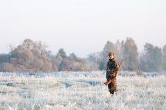 Winterjagd Stockbild