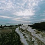 Winterküste stockfotografie