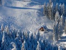 Winterkabine Stockfoto
