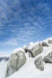 Winterkalkstein Stockbild