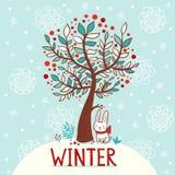 Winterkarte lizenzfreie abbildung