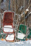 Winterkarussell Stockfotos