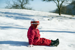 Winterkind Stockbild