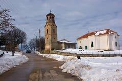 Winterkirche Stockbild