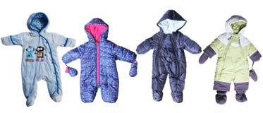Winterkleidung für neugeborenes Stockfoto