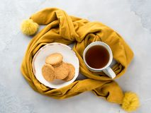 Winterkomfort-Lebensmittelkonzept mit Tee Lizenzfreie Stockfotografie