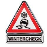 Winterkontrolle auf Ihrem Auto Stockfotografie