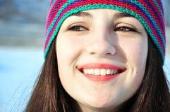 Winterlächeln Stockbild