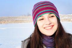 Winterlächeln Lizenzfreies Stockfoto