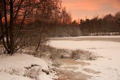 winterlake Στοκ φωτογραφία με δικαίωμα ελεύθερης χρήσης