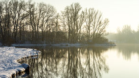 Winterlake Photographie stock
