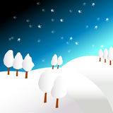 Winterland illustration Stock Image