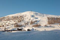 Winterland in Noorwegen Royalty-vrije Stock Foto