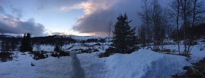 Winterland Norvegia Fotografia Stock Libera da Diritti