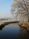 Winterlandscape在荷兰 免版税库存照片