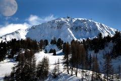 Winterlandscape in den Bergen Stockfotos