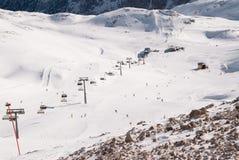 Winterlandscape en el Zugspitze, Alemania Fotos de archivo libres de regalías