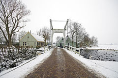 Winterlandscape in the Netherlands Royalty Free Stock Photo