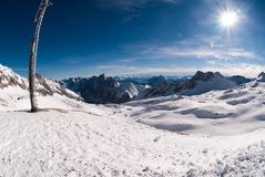 Winterlandscape in the Zugspitze, Germany Stock Photos