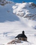 Winterlandscape in the Zugspitze, Germany Royalty Free Stock Photos