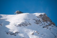 Winterlandscape in the Zugspitze, Germany Royalty Free Stock Images