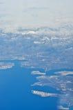 Winterlandschaft über Venedig Stockfoto