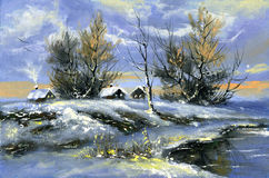Winterlandschaft lizenzfreie abbildung