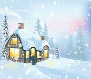 Winterlandschaft 3 lizenzfreie abbildung
