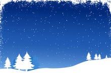 Winterlandschaft stock abbildung