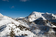 Winterlandschaft in den bayerischen Alpen Lizenzfreie Stockfotografie