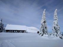 Winterlandschaft in den Bergen lizenzfreies stockbild