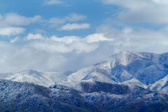 Winterlandschaft in den Bergen Stockbild