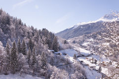 Winterlandschaft in der Schweiz Stockfotografie