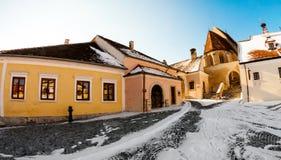 Winterlandschaft an der Stadt Lizenzfreie Stockbilder