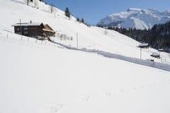 Winterlandschaft in Engelberg Lizenzfreie Stockbilder