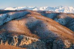 Winterlandschaft in Griechenland Stockfotografie