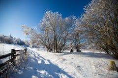 Winterlandschaft im dolnoslaskie, Polen Lizenzfreies Stockfoto