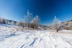 Winterlandschaft im dolnoslaskie, Polen Stockbilder