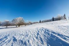 Winterlandschaft im dolnoslaskie, Polen Stockfoto